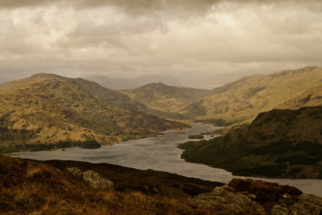 Loch-Katrine from Ben Venue, Scotland